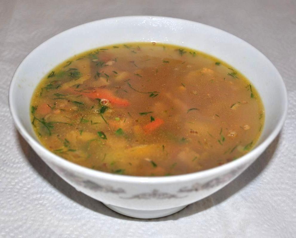 Суп гречневый со свининой
