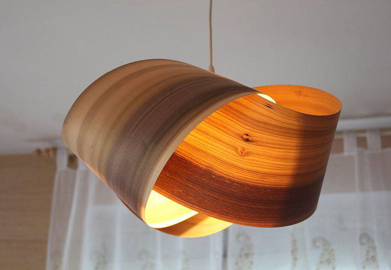 абажур из дерева