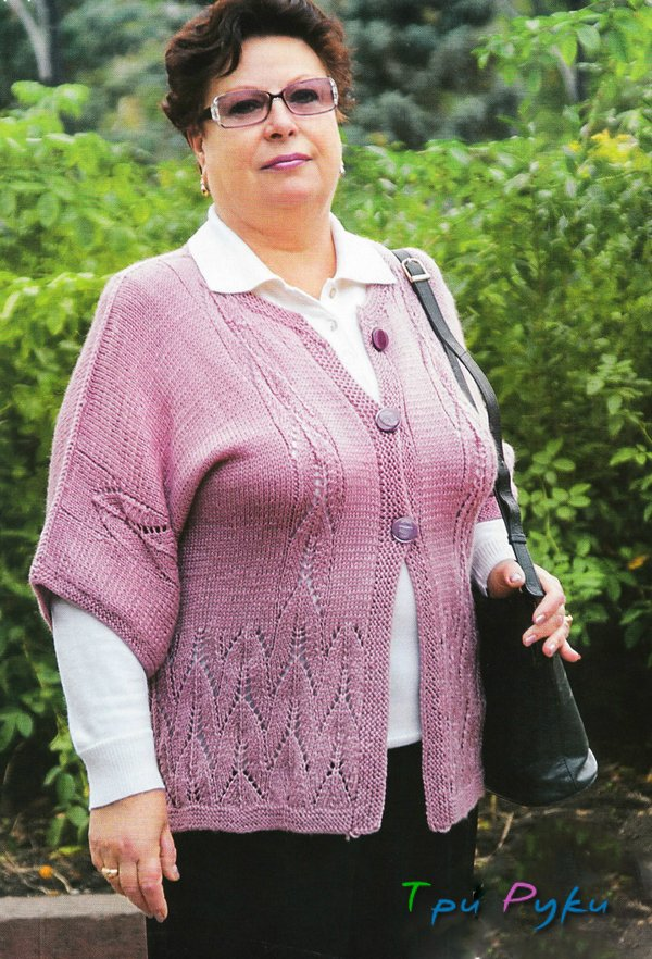 Вязание спицами жакетов для полных женщин
