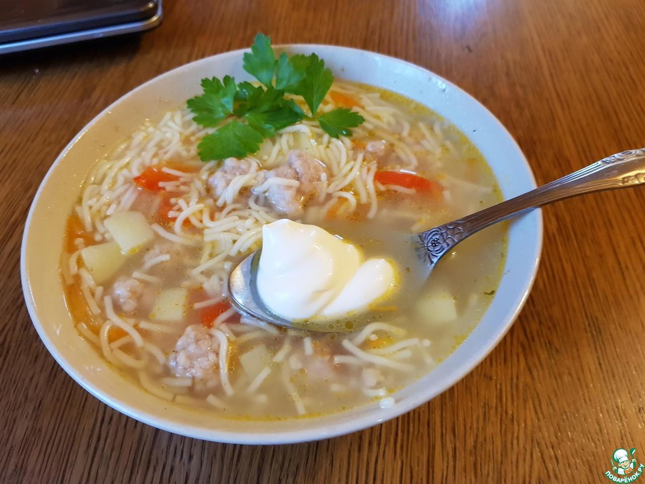 Как приготовить суп с фаршем из разного вида мяса, а также с вермишелью и с другими продуктами?