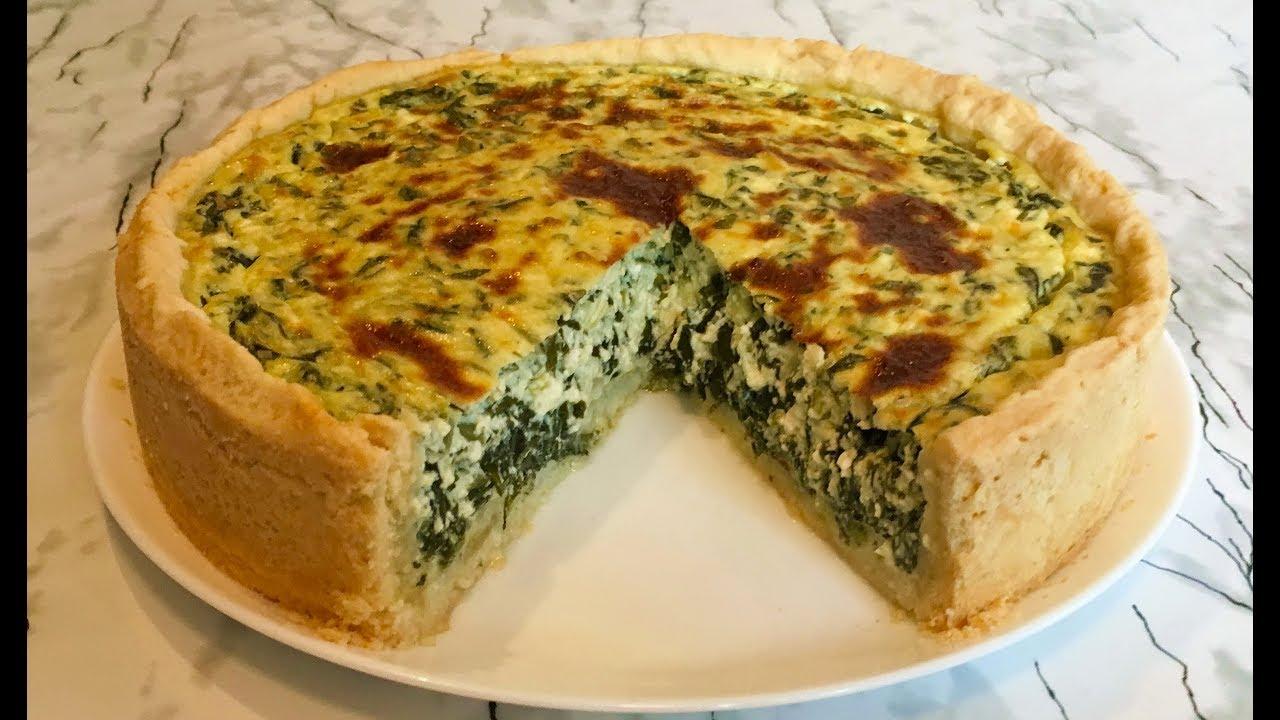 Рецепт пирога со шпинатом, сыром, яйцом и творогом
