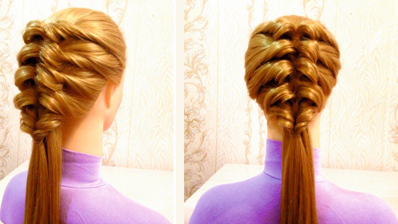 Прическа «Быстрая коса»