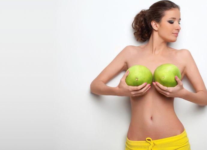 Увеличение и упругость женской груди массажем